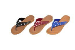 36 Units of Womens Assorted Color Flip Flops - Women's Flip Flops