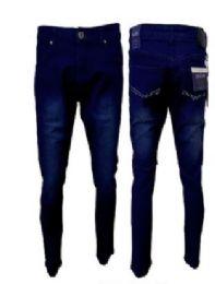 12 Units of Men's Fashion Stretch Denim Jeans In Dark Blue - Mens Jeans