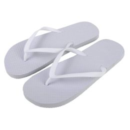 50 Units of Women's Flip Flops - White - Women's Flip Flops