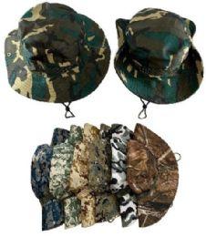 36 Units of Floppy Ranger Boonie Hats Assorted Camo - Cowboy & Boonie Hat