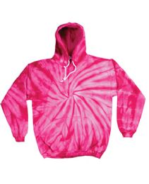 12 Units of Pull Over Hoody Spider Pink Tie Dye Fleece Lining - Womens Sweaters & Cardigan