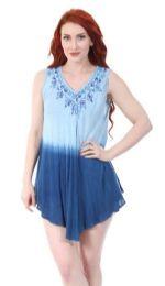 12 Units of Denim Tie Dye Color Rayon Tops - Womens Fashion Tops