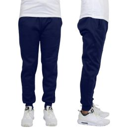 24 Units of Men's Heavy Weight Joggers In Navy Assorted Sizes - Mens Sweatpants