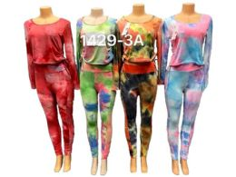 12 Units of Tie Dye Workout Yoga Workout Clothes - Womens Active Wear