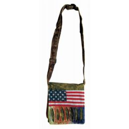 2 Units of Nepal Small Sling Purse with American Flag Design - Tote Bags & Slings