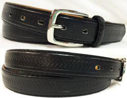 48 Units of Skinny Man Adult Size Belt Black Only - Mens Belts