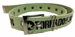 72 Units of Green Color One Hole Cotton Belt assorted size - Mens Belts