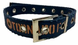 72 Units of Navy Color One Hole Cotton Belt Assorted Size - Mens Belts