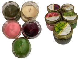 48 Units of Small Candle Jar Assorted Flavor - Candles & Accessories