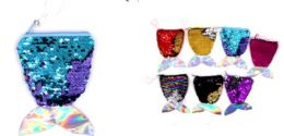96 Units of Mermaid Shape Sequins Coin Purse - Coin Holders & Banks