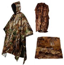 12 Units of Camo Adult Rain Coat Poncho - Umbrellas & Rain Gear