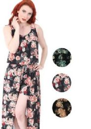 12 Units of Walk Thru Style Maxi Dress Assorted Colors and Size - Womens Sundresses & Fashion