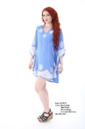 12 Units of Rayon Staple Poncho Batic Assorted Colors - Womens Sundresses & Fashion