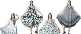 12 Units of Black and White Collection Rayon Umbrella Dresses - Womens Sundresses & Fashion