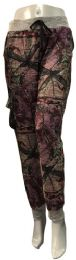 12 Units of Camo Jogging Pants With Waist Tie Assorted Size - Womens Leggings
