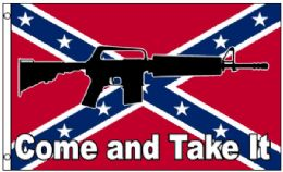 24 Units of Confederate Flag-Come and Take It - Flag