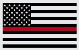 24 Units of Firefighters Red Line American Flag - Signs & Flags