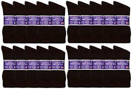 60 Units of Yacht & Smith Men's King Size Loose Fit Non-Binding Cotton Diabetic Crew Socks (Brown King Size 13-16) - Big And Tall Mens Diabetic Socks