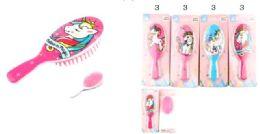 96 Units of Unicorn Style Kids Hair Brush - Hair Brushes & Combs