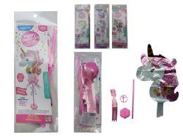 144 Units of Unicorn Balloon W/ Stand - Balloons & Balloon Holder