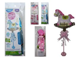 144 Units of Baby Rocking Horse Balloon W/ Stand - Balloons & Balloon Holder