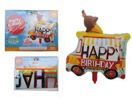 144 Units of Happy Birthday Truck Foil Balloon - Balloons & Balloon Holder