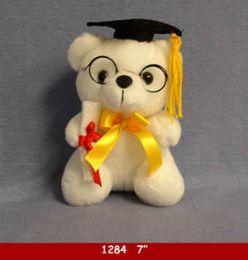 24 Units of Graduation Cap Bear With Glasses - Plush Toys
