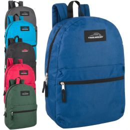 "24 Units of Classic 17 Inch Backpack - Backpacks 17"""
