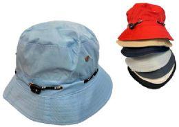 24 Units of Solid Color Bucket Hat - Bucket Hats