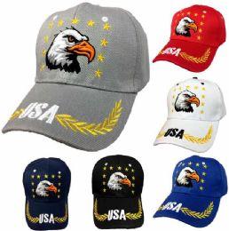 36 Units of Eagle Star USA Baseball Cap - Bucket Hats