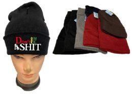 36 Units of Don't Ask Me 4 Shit Mix Winter hat - Winter Beanie Hats