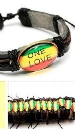96 Units of Faux Leather Bracelet ONE LOVE - Bracelets
