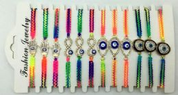 96 Units of Evil Eye Rainbow Color Bracelet - Bracelets