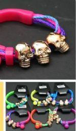 96 Units of Skull Cord Bracelet - Bracelets
