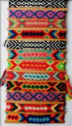 96 Units of Crochet Bracelet Assorted Design - Bracelets