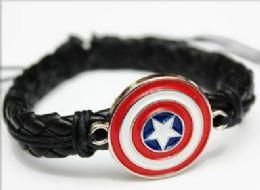 96 Units of Faux Leather Star Bracelet - Bracelets