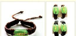 96 Units of Faux Jade Jesus Bracelet - Bracelets
