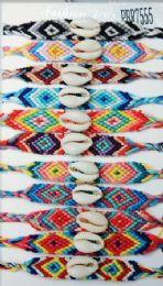 96 Units of Crochet With Shell Bead Bracelet - Bracelets