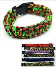 96 Units of Paracord Survival Bracelet - Bracelets