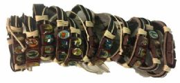 96 Units of Faux Leather Bracelet Jesus - Bracelets