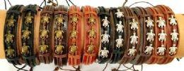 96 Units of Faux Leather Bracelet Turtle - Bracelets