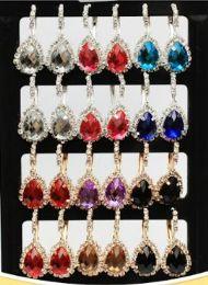72 Units of Rhinestone Water Drop Fashion Earring Stand - Earrings