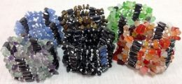 48 Units of Wraped Magnetic Hematite Necklace Bracelet With Natural Stone - Necklace