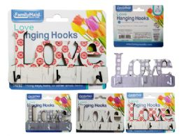 144 Units of Love Hanging Hooks 3pc - Hooks