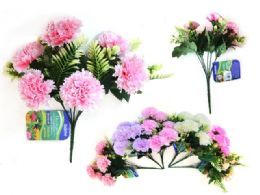 96 Units of Carnations Flower Bouquet - Artificial Flowers