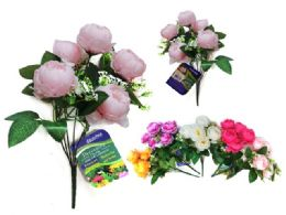96 Units of Peony Flower Bouquet - Artificial Flowers