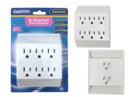 96 Units of Outlet Adapter 6 Plugs White Clr Etl Ul Std - Electrical