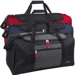 24 Units of 24 Inch Double Zip Pocket Duffle Bag - Duffel Bags