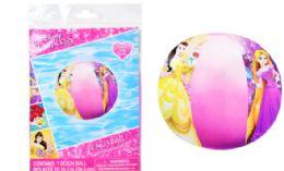 36 Units of 13.5 Inch Disney Princess Beach Ball - Beach Toys