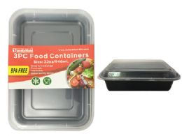 24 Units of 3pc Food Containers Meal Prep - Food Storage Containers